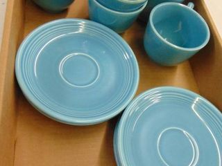 6   Fiesta Cups and Saucers