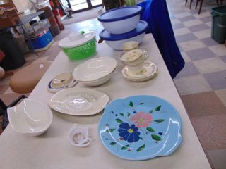 Glassware   Mixing Bowls and Salad Spinner