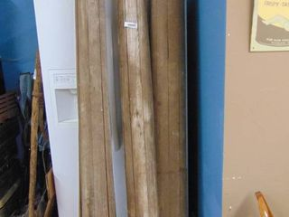 3   8 Foot Tonge and Groov Porch Posts