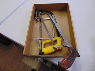 2 Hacksaws and Coping Saw