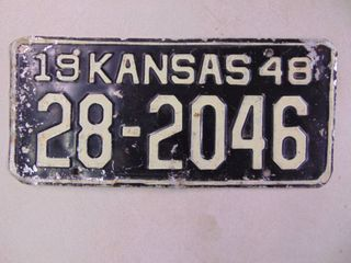 1948 license Tag