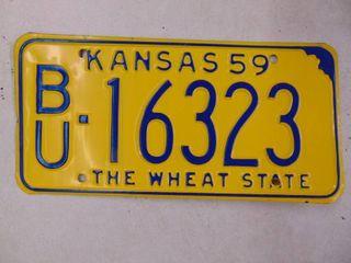 1959 license Tag