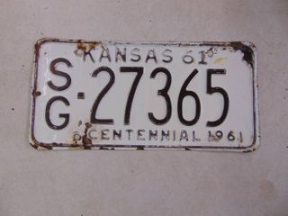 1961 license Tag