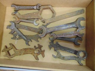 large Selection of Vintage Wrenches