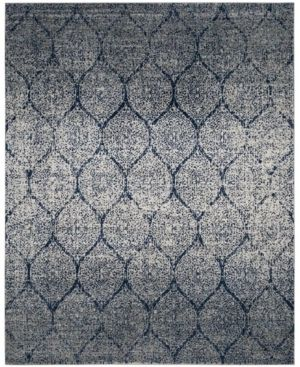 Navy Silver Shapes loomed Area Rug 8 X10    Safavieh