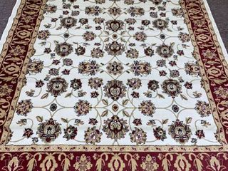 Copper Grove Sastamala Cream and Rust Bordered Persian Area Rug 237cm x 320 cm Retail 107 49