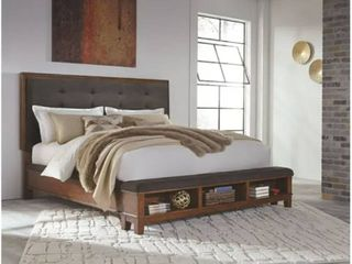 Ralene Upholstered Panel Bed  Retail 1069 99