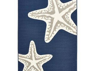 Sea Star Duo Navy Gray   White Area rug   7 10  x 9 10 x0 1    7 10  x 9 10 x0 1  Retail 176 49