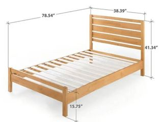 Zinus Becky Farmhouse Wood Platform Bed  Twin