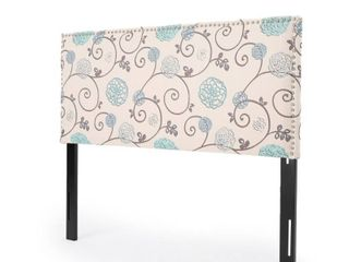Hilton Adjustable Full  Queen Floral Fabric Headboard by Christopher Knight Home  Retail 155 49
