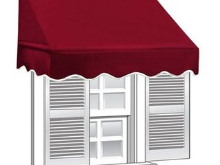 AlEKO 6  x 2  Window Awning Door Canopy  12 sq  ft Coverage  Burgundy Color