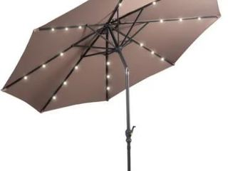 10 ft Patio Market Umbrella Outdoor with Solar Powered lED light  Retail 131 99