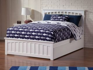 Mission White Full size Headboard and Footboard ONlY