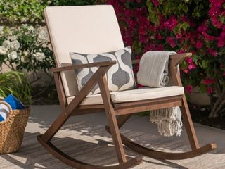 Gus Outdoor Wood Rocking Chair by Christopher Knight Home Retail 157 49