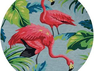 Miami Flamingoes Pink Blue Indoor  Outdoor Area Rug Retail 473 49