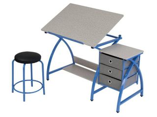 Studio Designs Blue Comet Center Hobby and Craft Table with Stool  Retail 143 99