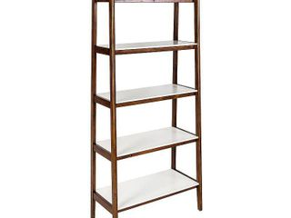 Madison Park Avalon Pecan  Cream White Bookcase  Retail 329 99