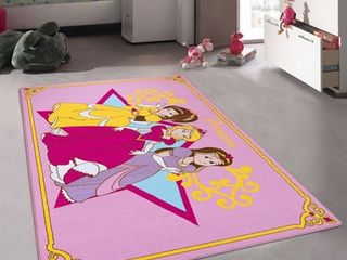 Allstar Kids Princess Bright Colorful Vibrant and Colors Rug