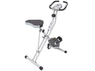 Exerpeutic 1200 Folding Pulse Monitor Magnetic Upright Bike   Black  Retail 175 69