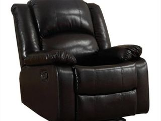 Samantha Bonded leather Wall Hugger Gliding Manual Recliner  Black  Retail 391 99