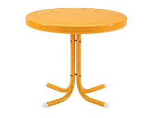 Crosley Retro Metal Patio Side Table Tangerine