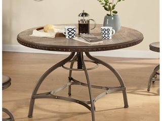 Simple living Decker Nailhead Trim Adjustable Height Swivel Dining Table  Retail 322 49