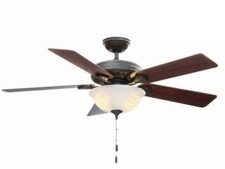 52  lED Pro s Best Ceiling Fan  Includes Energy Efficient light Bulb  Bronze   Hunter