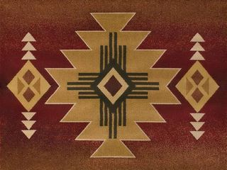 United Weavers of America Genesis Auburn South Western Arizona Crimson Area Rug