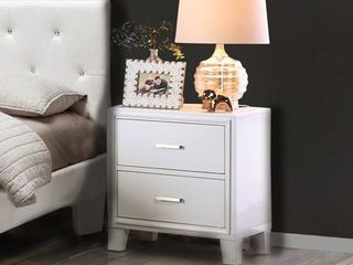 Furniture of America Malt Contemporary White 2 drawer Nightstand  Retail 195 99
