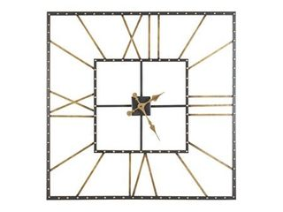 Thames Contemporary Black Gold Wall Clock   40  W x 1 5  D x 40  H  Retail 153 99
