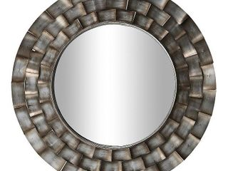 FirsTime   Co  Julissa Modern Metal Mirror  American Crafted  Aged Metallic  Mirror  31 5 x 0 95 x 31 5 in  Retail 117 99