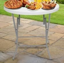 32 48inch Round Folding Table Outdoor Folding Utility Table White