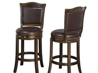 Adam Barstools 30  Set of 2  Brown