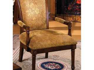 Furniture of America Antique Oak Wood Accent Chair  Retail 252 86