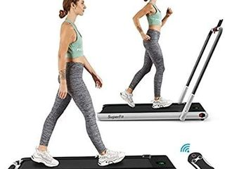 2 in 1 Folding Treadmill  2 25HP Under Desk Electric Treadmill  Installation Free  with Remote Control  Bluetooth Speaker and lED Display