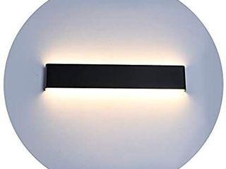 Ralbay 24 inch lED Wall Sconce lighting 20W Black Vanity lights for Bathroom Vanity light Matte Black Modern Warm White
