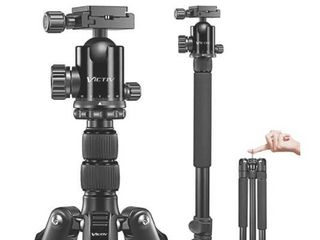 VICTIV Camera Tripod 81 inches Monopod  Aluminum Travel Tripod for DSlR  lightweight Tripod loads Up to 19 lbs with 360 Degree Ball Head and Carry Bag for Travel and Work   AT26 Black