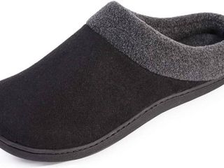Men s Woolen Fabric Memory Foam Anti Slip House Slippers  Autumn Winter Breathable Indoor Shoes