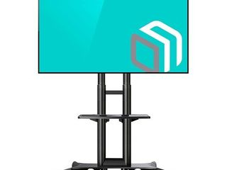 ONKRON Mobile TV Stand Rolling TV Cart for 32 to 65 Inch lCD lED Flat Screen TVs with Shelves on Wheels  TS1551