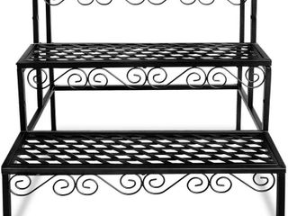 Tiered Plant Stand Outdoor Metal 3 Tier Stands for Multiple Plants