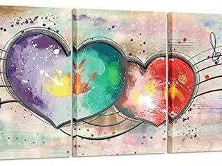 Canvas Wall Art love Heart Painting with Frame Modern Pink Artwork Abstract Home Decor Giclee Prints Gallery Wrapped Art Work for Couple Bedroom Walls Decorations