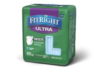 Medline FitRight Ultra Disposable Briefs  large 20 Count