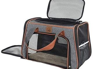Purrpy Cat Carrier for Small Cats Under 25  Plenty of Ventilation Airline Approved Pet Carrier for Small Dogs Chihuahua Pomeranian Corgi Poodle