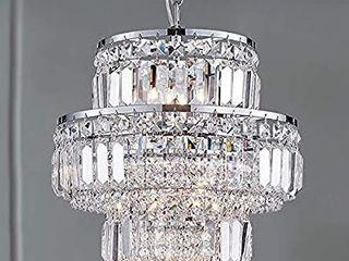 Bestier Modern Pendant Crystal Raindrop Chandelier lighting lED Ceiling light Fixture