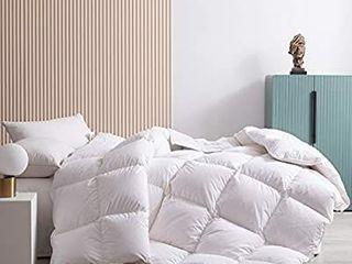 Topllen White Down Comforter   300TC 100  Cotton Downproof Fabric