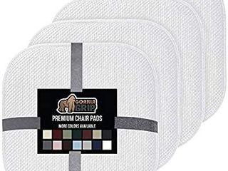 Gorilla Grip Original Premium Memory Foam Chair Cushions  4 Pack  16x16 Inch