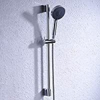 KES Shower Slide Bar with Five Function Massaging Hand Shower Head Adjustable Polished Chrome  F200 CH KP501B CH