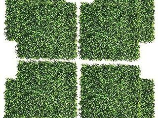 8 Pieces 20 x 20  Artificial Boxwood Panels Topiary Hedge Plant  Privacy Hedge Screen UV Protected Suitable for Outdoor  Indoor  Garden  Fence  Backyard and Decor