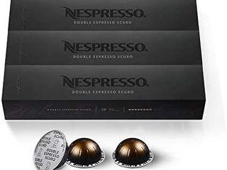 Nespresso Vertuo Double Espresso   Intenso 3 Sleeves   30 Pods
