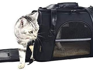 Premium Pet Carrier Airline Approved Soft Sided for Cats and Dogs Portable Cozy Travel Pet Bag  Car Seat Safe Carrier